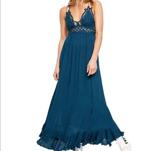 Free People Adella Turquoise Maxi FINAL PRICE💲